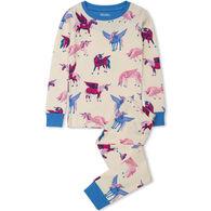 Hatley Girl's Mystical Unicorns Organic Cotton PJ Set