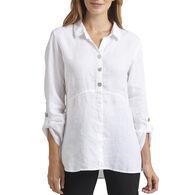 Habitat Women's Cross Dye Solid 3/4-Sleeve Top