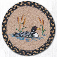 "Capitol Earth 10"" Round Loon Cattail Braided Rug"