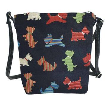 Signare Womens Scotty Dog Sling Bag Purse Crossbody Handbag