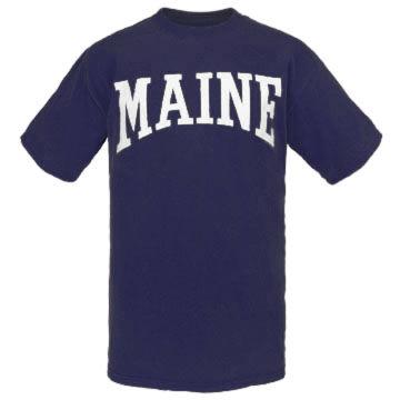 Cape Cod Textile Mens Maine Arch Design Short-Sleeve T-Shirt