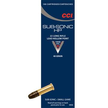 CCI Subsonic HP 22 LR 40 Grain LHP Rimfire Ammo (100)