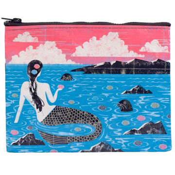Blue Q Womens Mermaid Zipper Pouch