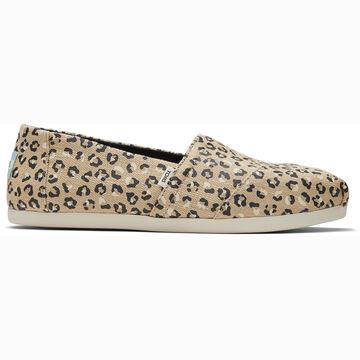 TOMS Womens Textured Cheetah Alpargata Shoe