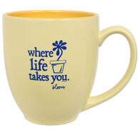 Where Life Takes You Flower Mug