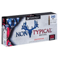Federal Non-Typical 243 Winchester 100 Grain Soft Point Rifle Ammo (20)