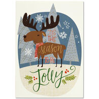 Peter Pauper Press Merry Moose Small Boxed Holiday Cards