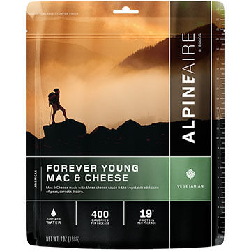 AlpineAire Forever Young Mac & Cheese Vegetarian Meal - 2 Servings
