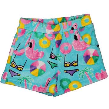 Candy Pink Girls' Beach Fun Fleece Pajama Short
