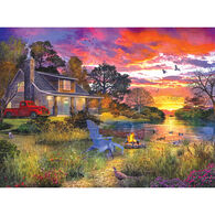 White Mountain Jigsaw Puzzle - Evening Country Cabin