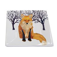 Paperproducts Design Winter Fox Square Plate