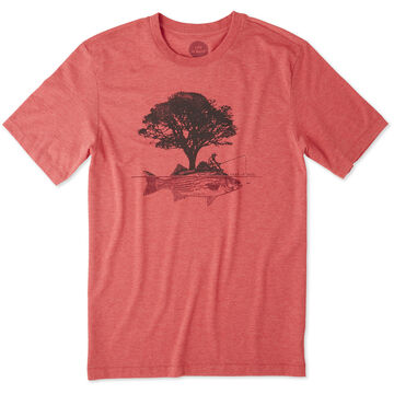 Life is Good Mens Fish Tree Short-Sleeve Cool T-Shirt