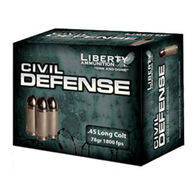 Liberty Civil Defense 45 Long Colt 78 Grain Lead-Free HP Handgun Ammo (20)