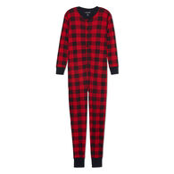 Hatley Little Blue House Men's & Women's Moose On Plaid Union Suit