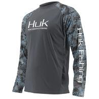 Huk Men's Big & Tall Subphantis Double Header Vented Performance Fishing Long-Sleeve Shirt