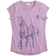 Carhartt Girl's Water Color Horse Short-Sleeve T-Shirt