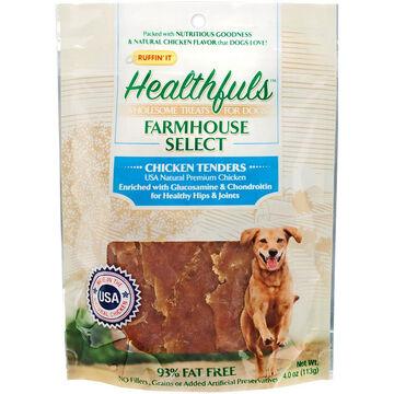 Ruffin It Healthfuls Chicken w/ Glucosamine & Chondroitin Tenders Dog Treat - 4 oz.