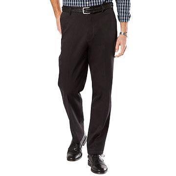 Dockers Mens Big & Tall Signature Stretch Khaki Flat Front Classic Fit Pant