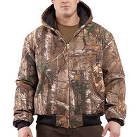 Carhartt Men's Quilted-Flannel Lined Camo Active Jac