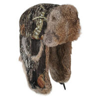 Mad Bomber Men's Saddlecloth Fur Trim Bomber Hat