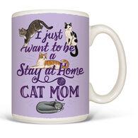 Earth Sun Moon Stay At Home Cat Mom Mug