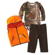 Carhartt Infant/Toddler Boy's Camo/Blaze Orange Gift Set
