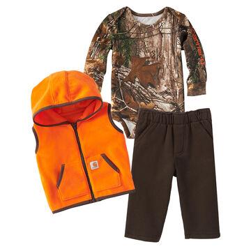 Carhartt Infant/Toddler Boys Camo/Blaze Orange Gift Set