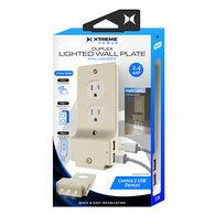 Xtreme Duplex Lighted Wall Plate w/ USB Ports