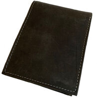 Deerfield Leathers Men's RFID Crazy Horse Distressed Leather Bifold Wallet