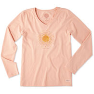 Life is Good Women's Sun Hearts Crusher Vee Long-Sleeve T-Shirt