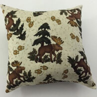 "Moosehead Balsam Fir 5"" x 5"" Moose Tracks Pillow"