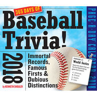 A Year of Baseball Trivia! 2018 Page-A-Day Calendar by Kenneth Shouler