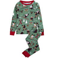 Hatley Little Blue House Boys' & Girls' Northern Winter Pajama Set