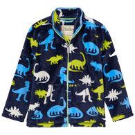 Hatley Boy's Silhouette Dinos Fuzzy Fleece Zip-Up Top