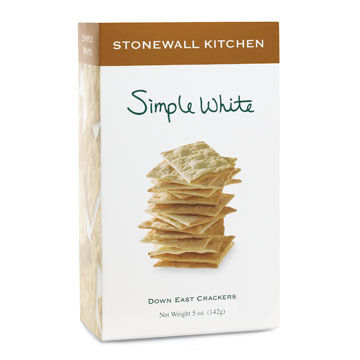Stonewall Kitchen Simple White Down East Crackers, 5 oz.