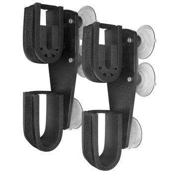 Rugged Gear Suction Cup Mount Double Hook Vehicle Gun / Equipment Holder Set