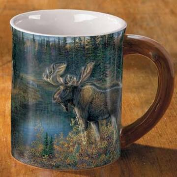 Wild Wings Da Bulls Moose Sculpted Mug