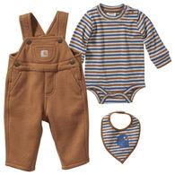 Carhartt Infant Carhartt Brown Long-Sleeve 3-Piece Set