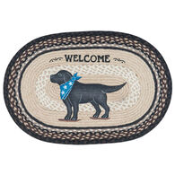 Capitol Earth Black Lab Oval Patch Rug