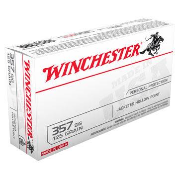 Winchester USA 357 Sig 125 Grain JHP Handgun Ammo (50)