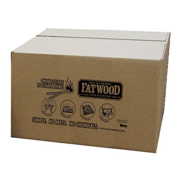 Wood Products 25-Lb. Box Fatwood Firestarter