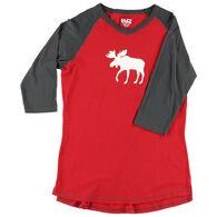 Lazy One Women's Moose Fair Isle Tall Sleep T-Shirt
