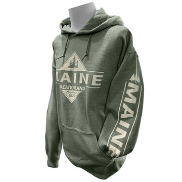 Artforms Womens Vacationland Maine Pinetree Long-Sleeve Sweatshirt