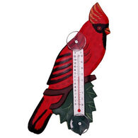 Bobbo Cardinal On Branch Window Thermometer