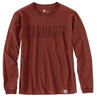 Carhartt Men's Workwear Block Logo Graphic Long-Sleeve T-Shirt