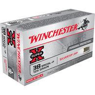 Winchester 38 Special +P 125 Grain Silvertip JHP Handgun Ammo (50)