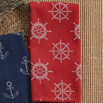 Park Designs Ship Wheels Jacquard Dish Towel