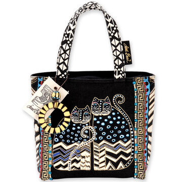 Sun N Sand Womens Polka Dot Gatos Small Shoulder Tote Bag