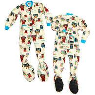 Lazy One Boys' & Girls' Owl Yours Footeez Pajamas