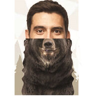Wilcor Men's & Women's Bear Neck Scarf with Filter Pocket